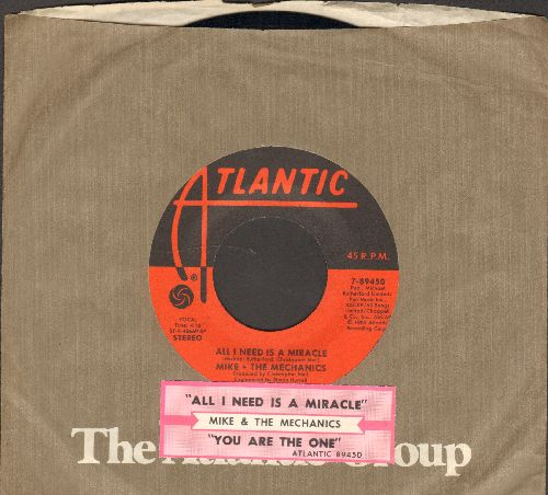 Mike & The Mechanics - All I Need Is A Miracle/You Are The One (with juke box label and Atlantic company sleeve) - NM9/ - 45 rpm Records