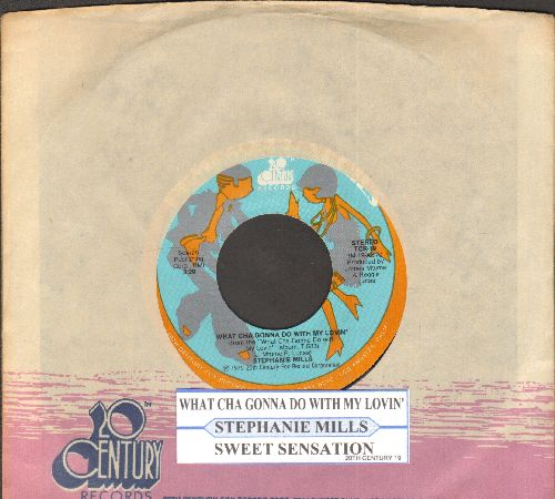 Mills, Stephanie - What Cha Gonna Do With My Lovin'/Sweet Sensation (with juke box label and company sleeve) - NM9/ - 45 rpm Records