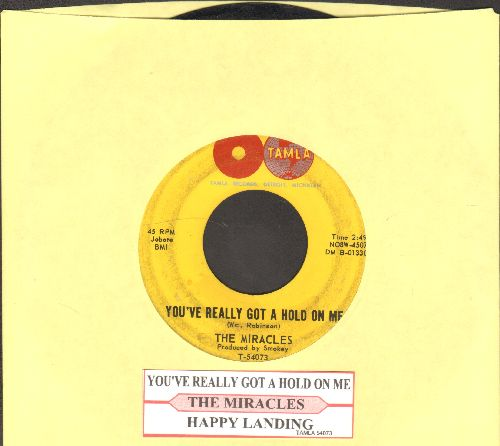 Miracles - You've Really Got A Hold On Me/Happy Landing (with juke box label) - VG7/ - 45 rpm Records