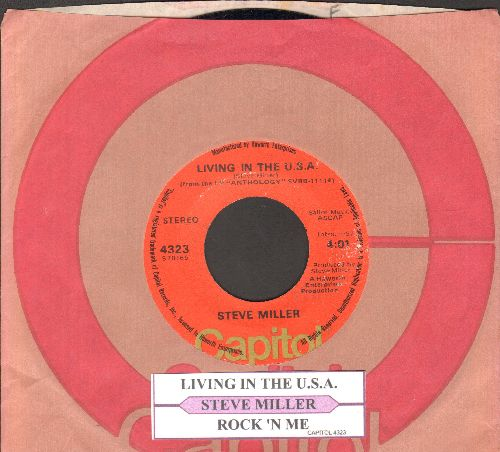 Miller, Steve - Living In The U.S.A./Rock'n Me (with juke box label and Capitol company sleeve) - NM9/ - 45 rpm Records