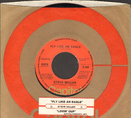 Miller, Steve - Fly Like An Eagle/Lovin' Cup (with juke box label and Capitol company sleeve) - EX8/ - 45 rpm Records