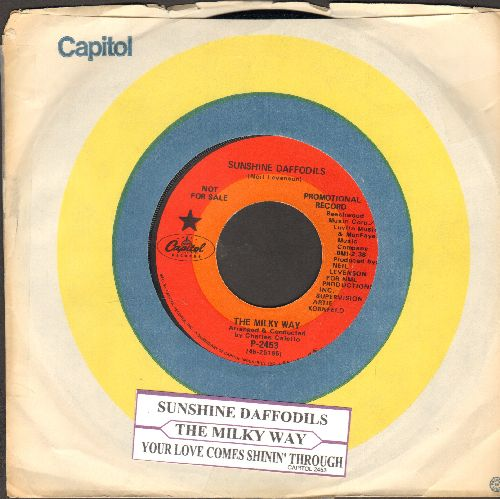 Milky Way - Sunshine Daffodils/Your Love Comes Shinin' Through (RARE Psychedelic 2-sider, DJ advance pressing with juke box label and Capitol company sleeve) - NM9/ - 45 rpm Records