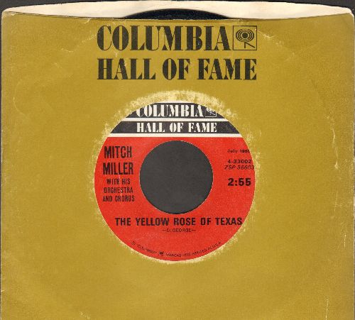Miller, Mitch & The Gang - The Yellow Rose Of Texas/March From The River Kwai/Colonel Bogey (double-hit re-issue with Columbia company sleeve) - NM9/ - 45 rpm Records