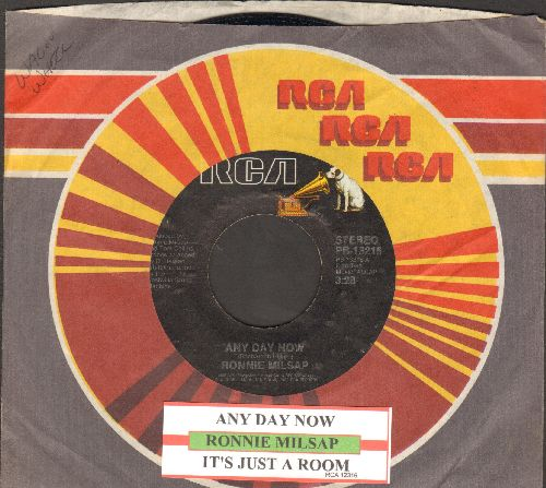 Milsap, Ronnie - Any Day Now (VERY NICE update of the Jerry Butler R&B Classic!)/It's Just A Room (with juke box label and RCA company sleeve) - NM9/ - 45 rpm Records