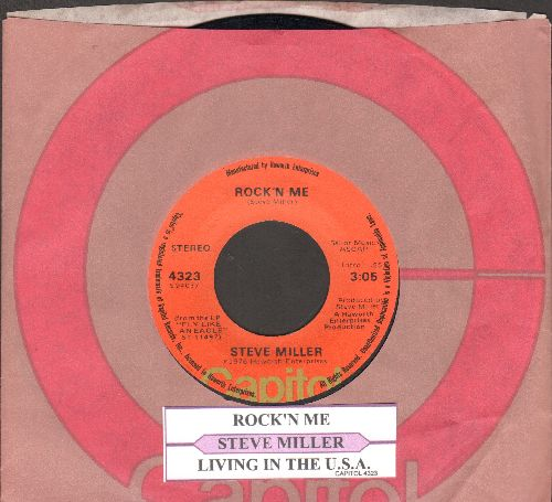 Miller, Steve - Rock'n Me/Living In The U.S.A. (with Capitol company sleeve) - NM9/ - 45 rpm Records