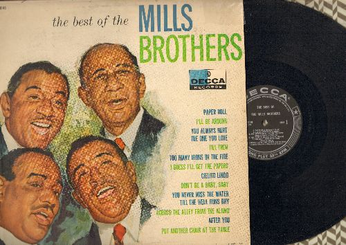 Mills Brothers - The Best Of The Mills Brothers: Paper Doll, Till Then, You Always Hurt The One You Love, Cielito Lindo (Vinyl MONO LP record, black label early pressing) - VG7/EX8 - LP Records