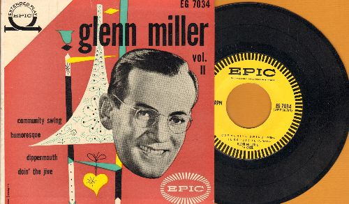 Miller, Glenn & His Orchestra - Glenn Miller Vol. 2: Community Swing/Humoresque/Dipper Mouth Blues/Doin' The Jive (vinyl EP record with picture cover) - NM9/EX8 - 45 rpm Records