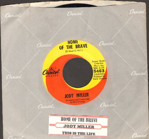 Miller, Jody - Home Of The Brave/This Is The Life (with juke box label) - NM9/ - 45 rpm Records