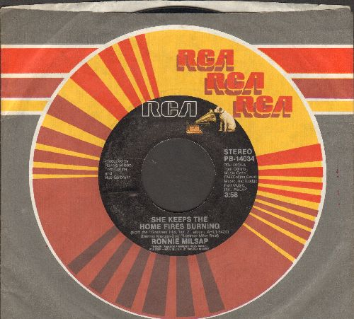 Milsap, Ronnie - She Keeps The aHome Fires Burning/Is It Over (with RCA company sleeve) - NM9/ - 45 rpm Records