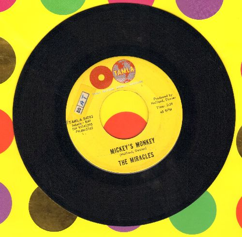 Miracles - Mickey's Monkey/Whatever Makes You Happy (double globe on label, early release)(sol,wol) - NM9/ - 45 rpm Records