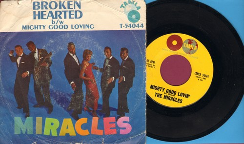 Miracles - Mighty Good Loving/Broken Hearted (with RARE picture sleeve) - EX8/G5 - 45 rpm Records