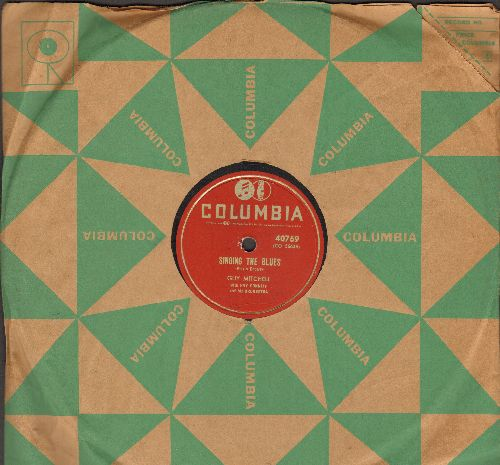Mitchell, Guy - Singing The Blues/Crazy With Love (FANTASTIC over-looked flip-side, RARE 10 inch 78 rpm record with Columbia company sleeve) - NM9/ - 78 rpm