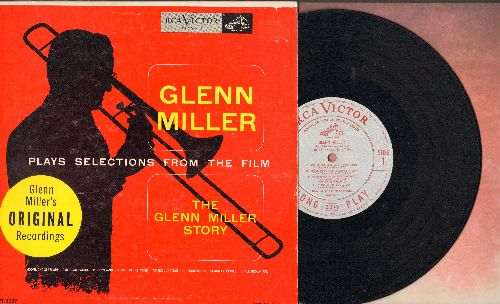 Miller, Glenn - Selections from The Glenn Miller Story: Moonlight Serenade/In The Mood/String Of Pearls/St. Louis Blues + 4 (10 inch LP record with picture cover) - EX8/EX8 - LP Records