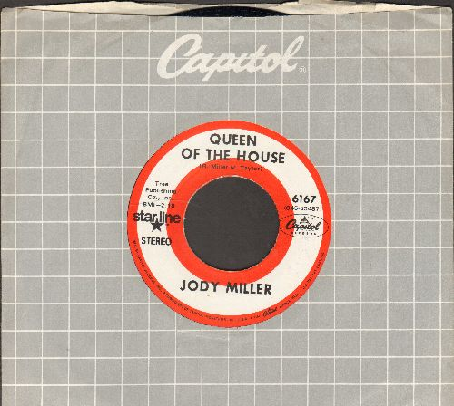 Miller, Jody - Queen Of The House (ANSWER to Roger Miller's Hit -King Of The Road-)/Silver Threads And Golden Needles (double-hit re-issue with Capitol company sleeve) - NM9/ - 45 rpm Records