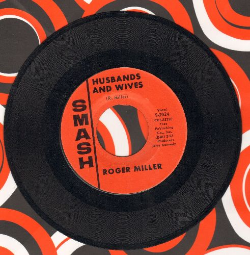 Miller, Roger - Husbands And Wives/I've Been A Long Time Leavin' - NM9/ - 45 rpm Records