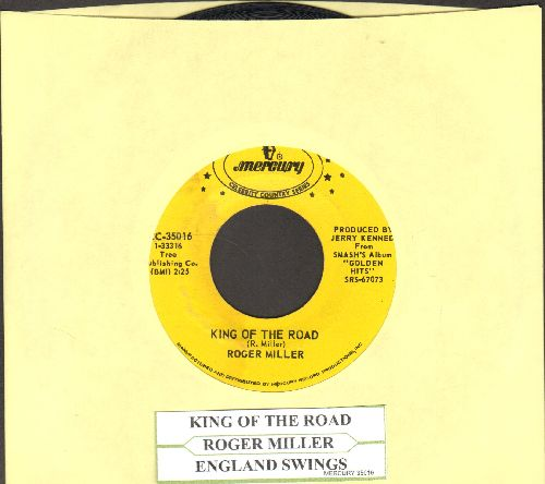Miller, Roger - King Of The Road/England Swings (double-hit re-issue with juke box label) - EX8/ - 45 rpm Records