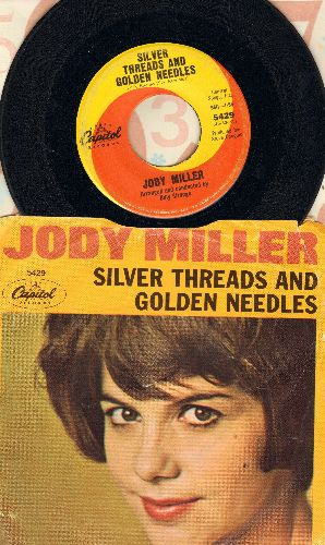 Miller, Jody - Silver Threads And Golden Needles/Melody For Robin (with picture sleeve) - VG7/VG7 - 45 rpm Records