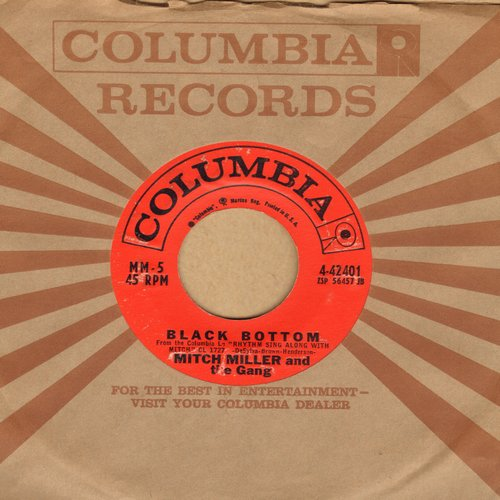 Miller, Mitch & The Gang - Black Bottom/Bidin' My Time (with vintage Columbia company sleeve) - EX8/ - 45 rpm Records