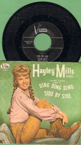 Mills, Hayley - Ching-Ching And A Ding Ding Ding/Side By Side (with picture sleeve) - EX8/EX8 - 45 rpm Records