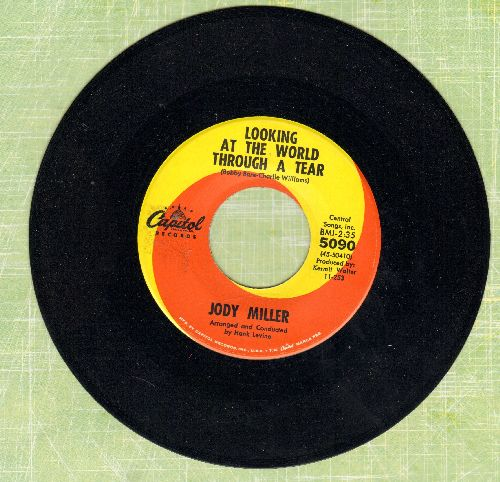 Miller, Jody - Looking At The World Through A Tear/He Walks Like A Man - NM9/ - 45 rpm Records