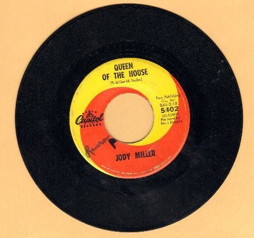 Miller, Jody - Queen Of The House (ANSWER to Roger Miller's Hit -King Of The Road-)/The Greatest Actor (wol) - VG7/ - 45 rpm Records