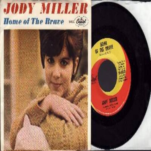 Miller, Jody - Home Of The Brave/This Is The Life (with picture sleeve and juke box label) - EX8/VG7 - 45 rpm Records