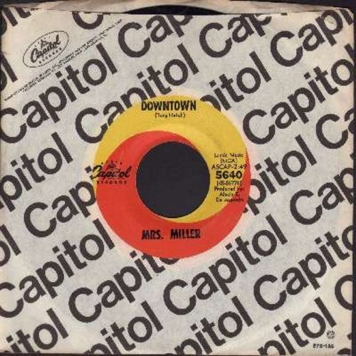 Miller, Mrs. - Downtown/A Lover's Concerto (the hilarious original two-sided one-hit-wonder 45 by America's Favorite tone-deaf Grandma!) (with vintage Capitol company sleeve) - EX8/ - 45 rpm Records