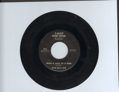 Miller, Ned - From A Jack To A King/Parade Of Broken Hearts - VG7/ - 45 rpm Records
