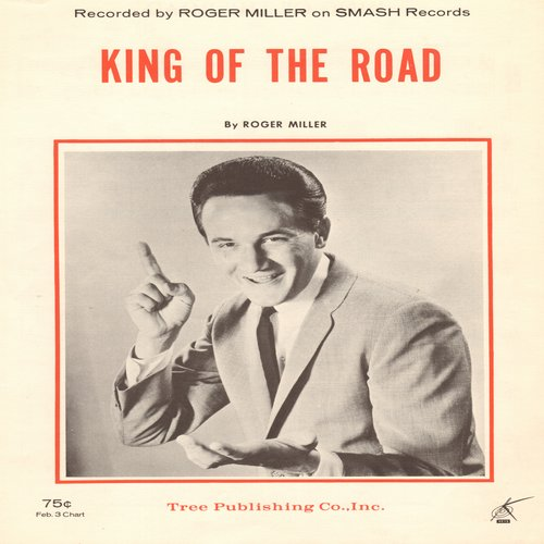 Miller, Roger - King Of The Road - SHEET Music for Roger Miller's Signature Song, NICE cover art! (This is SHEET MUSIC, not any other kind of media!) - NM9/ - Sheet Music