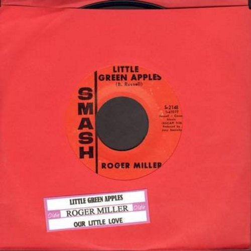 Miller, Roger - Little Green Apples/Our Little Love (with juke box label) - NM9/ - 45 rpm Records