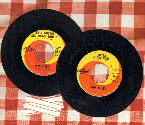 Miller, Jody - 2 for 1 Special: Queen Of The House/Silver Threads And Golden Needles (2 vintage first issue 45rpm records for the price of 1!) - VG7/ - 45 rpm Records