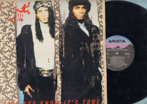 Milli Vanilli - Girl You Know It's True: Blame It On The Rain, Baby Don't Forget My Number, Take It As It Comes (vinyl LP record) - EX8/EX8 - LP Records
