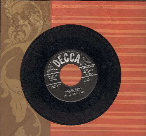 Mills Brothers - Paper Doll/I'll Be Around (early 50s pressing with vintage Decca company sleeve) - VG6/ - 45 rpm Records