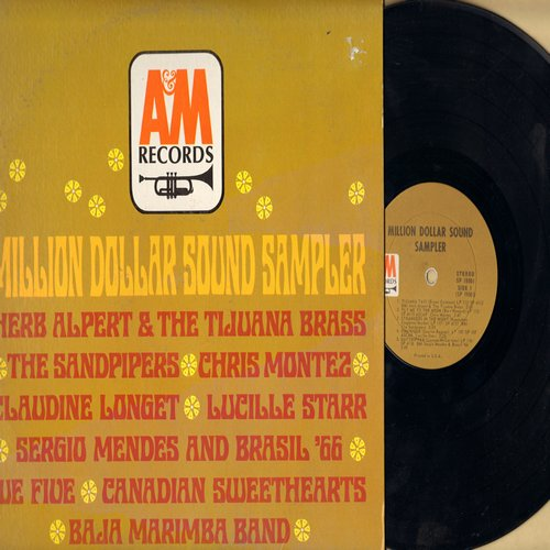 Alpert, Herb & The Tijuana Brass, Chris Montez, Lucille Starr, Claudine Longet, others - Million Dollar Sound Sampler: Tijuana Taxi, Dominique, Beyond The Sea, Fly Me To The Moon (Vinyl STEREO LP record) - NM9/EX8 - LP Records