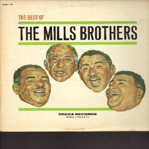 Mills Brothers - Best Of: Paper Doll, Till Then, You Always Hurt The One You Love, Glow-Wurm, Gloria, Daddy's Little Girl, The Jones Boy (2 vinyl LP record, multi-color label 1960s pressing of vintage recordings) - NM9/VG7 - LP Records