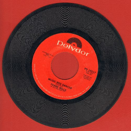 Mills, Frank - Music Box Dancer (1979 surprise Top-10 Instrumental Hit)/The Poet And I (with juke box label) - NM9/ - 45 rpm Records