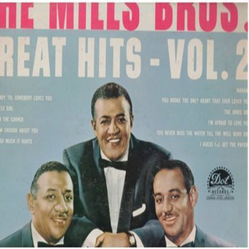 Mills Brothers - Great Hits Vol.2: Daddy's Little Girl, The Jones Boy, Standing On The Corner, You're Nobody 'Til Somebody Loves You (Vinyl MONO LP record) - NM9/VG7 - LP Records