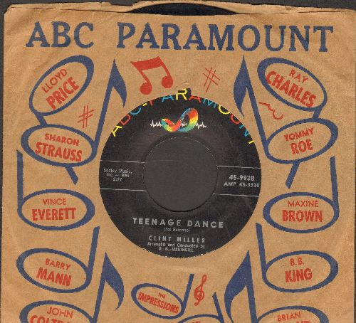 Miller, Clint - Teenage Dance/Polka Dotted Poliwampus (RARE Vintage Rock & Roll 2-Sider with ABC-Paramount company sleeve) - EX8/ - 45 rpm Records