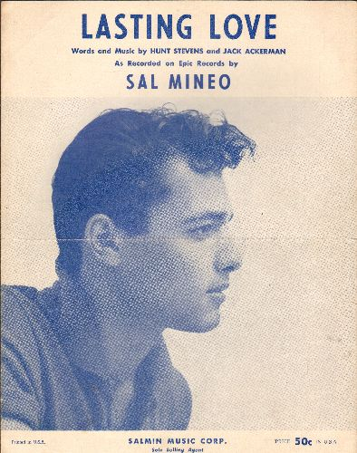 Mineo, Sal - Lasting Love - SHEET MUSIC for Sal Mineo's signature song, NICE cover portrait of the Teen Idol! - VG7/ - Sheet Music