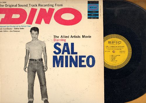 Dino - Dino - Original Motion Picture Soundtrack from film starring Sal Mineo. Orchestra conducted by Gerald Fried (vinyl MONO LP record, 1957 first pressing) - NM9/VG7 - LP Records