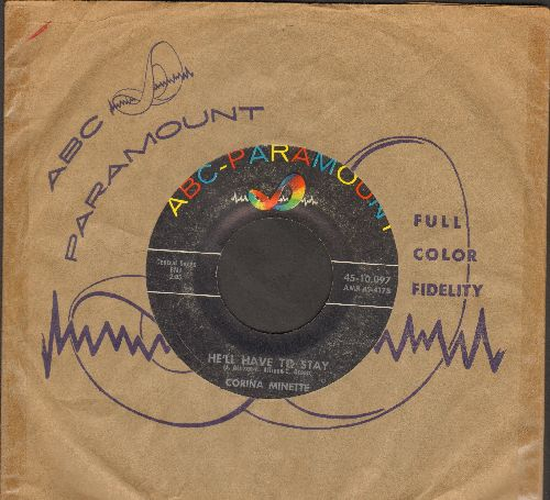 Minette, Corina - He'll Have To Stay/Young At Cha Cha Cha (Young At Heart) - VG7/ - 45 rpm Records