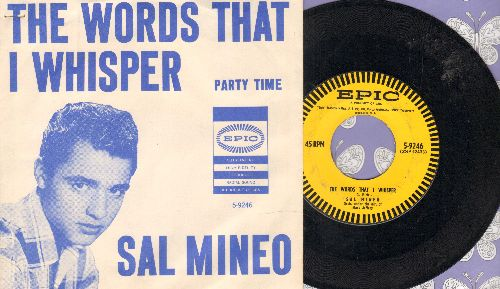 Mineo, Sal - Party Time/The Words That I Whisper (with picture sleeve) - EX8/EX8 - 45 rpm Records