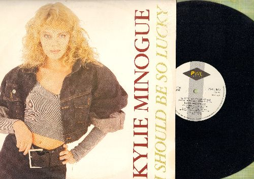 Minogue, Kylie - I Should Be So Lucky - 12 inch vinyl MAXI SINGLE featuring 6:03 minutes Extended Dance Club Mix + 3:24 Radio Edit, British Pressing with picture cover) - NM9/EX8 - Maxi Singles