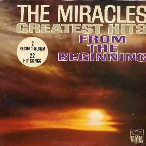 Miracles - Greatest Hits From The Beginning: Got A Job, Mama Done Told Me, Bad Girl, Shop Around, You've Really Got A Hold On Me, Mickey's Monkey, I Like It Like That (2 vinyl MONO  LP record set, gate-fold cover, NICE condition! - counts as 2 LPs) - EX8/