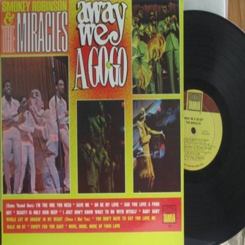 Robinson, Smokey & The Miracles - Away We A Go-Go: Beauty Is Only Skin Deep, You Don't Have To Say You Love Me, Walk On By (Vinyl MONO LP record) - VG7/EX8 - LP Records