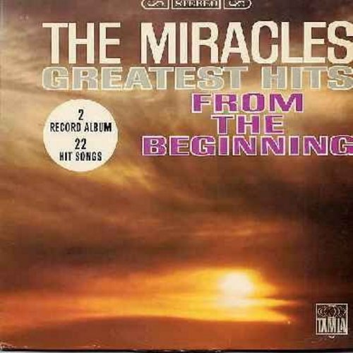 Miracles - Greatest Hits From The Beginning: Got A Job, Mama Done Told Me, Bad Girl, Shop Around, You've Really Got A Hold On Me, Mickey's Monkey, I Like It Like That (2 vinyl STEREO  LP record set, gate-fold cover, counts as 2 LPs) - VG7/VG7 - LP Records
