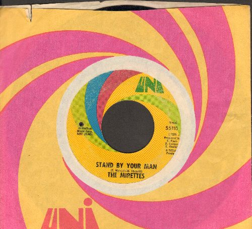 Mirettes - Stand By Your Man (R&B Version of the Tammy Wynette Hit)/If Everybody'd Help Somebody (with Uni company sleeve)(bb) - VG7/ - 45 rpm Records