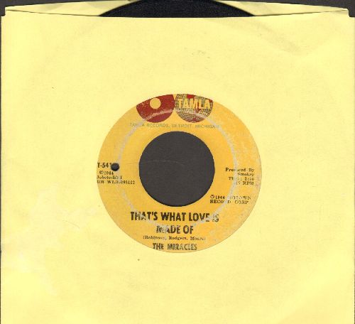 Miracles - That's What Love Is Made Of/Would I Love You (bb) - VG7/ - 45 rpm Records