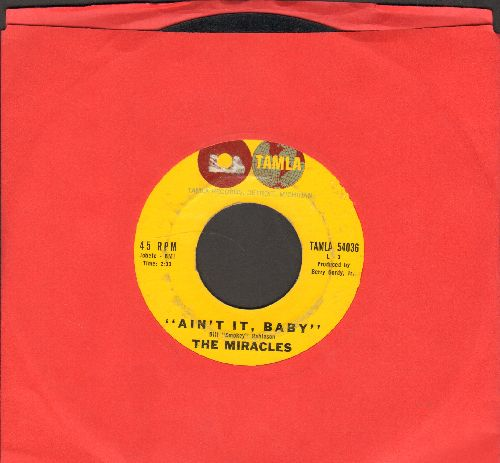 Miracles - Ain't It, Baby/The Only One I Love (wol) - VG6/ - 45 rpm Records