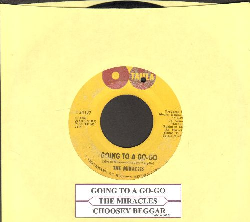 Miracles - Going To A Go-Go/Choosey Beggar (bb) - VG7/ - 45 rpm Records